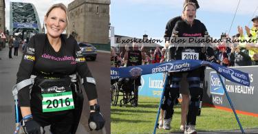 【外骨骼裝置】英國女殘疾跑手利用外骨骼裝置成功跑畢半馬拉松