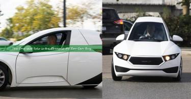 【最便宜電動車】加拿大初創推出單人座三輪電動車,只需1.5萬美元就能買到