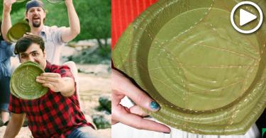 【環保餐具】德公司用樹葉製成餐具,28天後就能自我分解