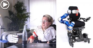 【手臂延伸】輪椅附屬機械臂,讓殘障人士也能獨自完成日常事項