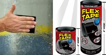 【一貼即妥】超強防水膠貼Flex Tape,補破洞、堵漏水更黏回剖半船