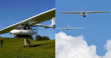 【欣賞天際線】個人懸掛式滑翔機Archaeopteryx,人力起飛翱翔天際