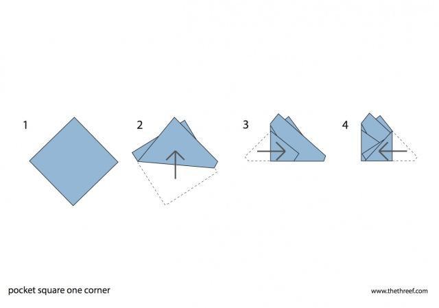 pocket square one corner
