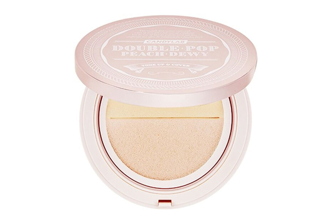 Doublepop Peach Dewy Tone-Up and Cover Cushion