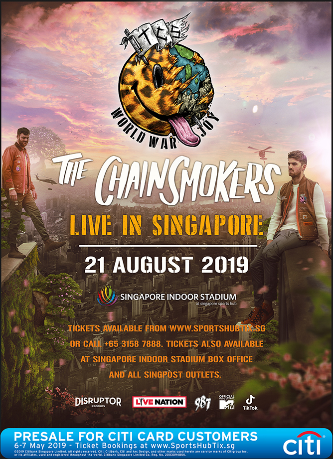 The Chainsmokers Live In Singapore 2019
