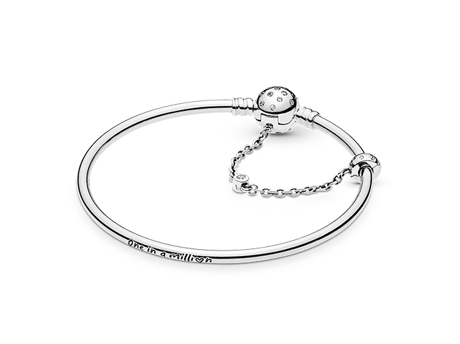 Pandora Moments Sterling Silver Bangle