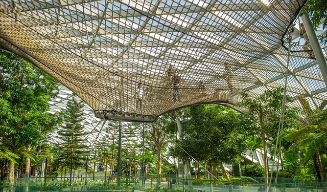Manulife Sky Nets Bouncing