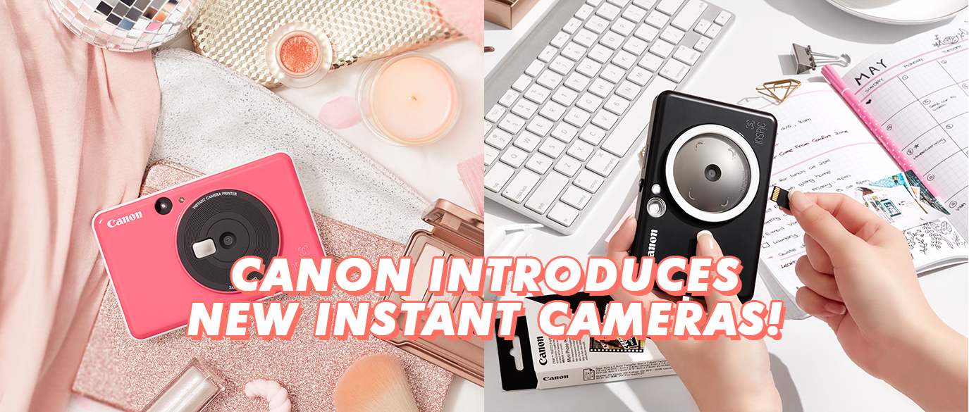 CANON Instant Camera Printers iNSPiC [C] and iNSPiC [S]