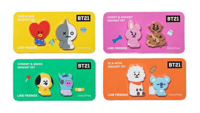innisfree BT21 Magnet Set