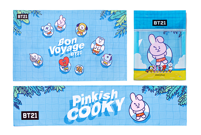 innisfree BT21 Beach Towel Set