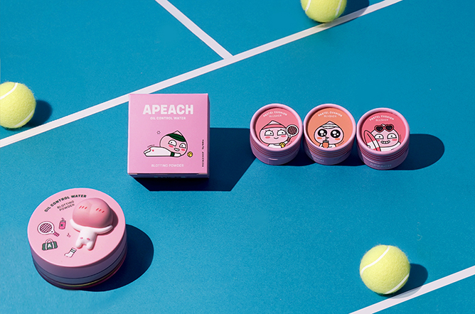 Apeach Oil Control Water Oil Blotting Powder, $22, Apeach Pastel Cushion Blush, $12 each