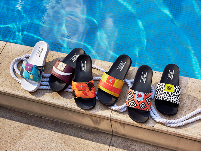 Skechers X One Piece Collection Apparel Slides