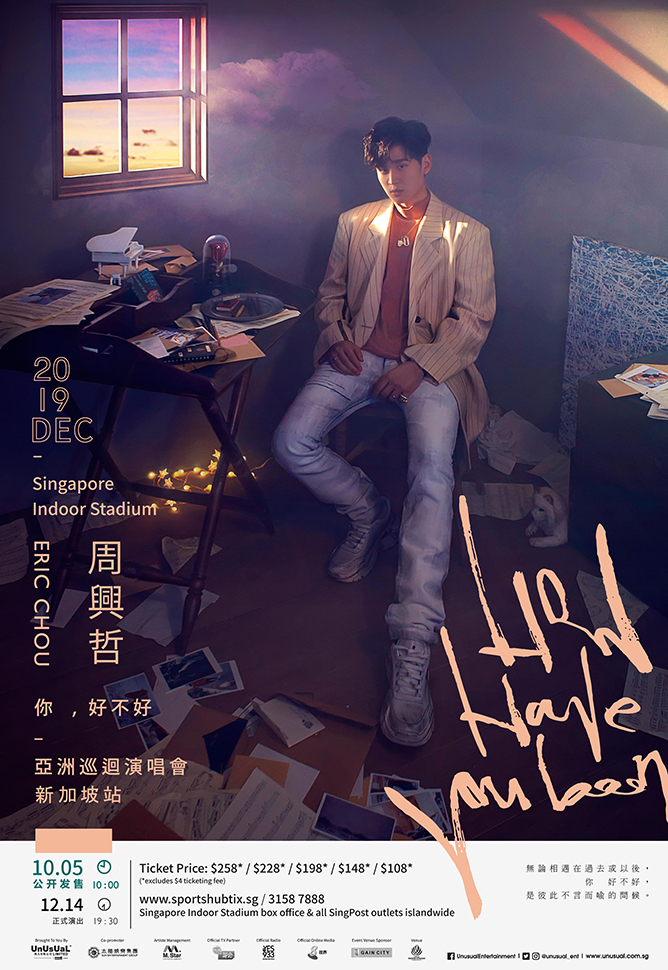 Eric Chou How Have You Been 2019 Asia Tour in Singapore