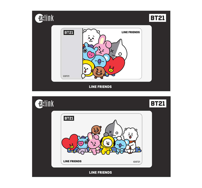 BT21 EZ-Link Cards Singapore