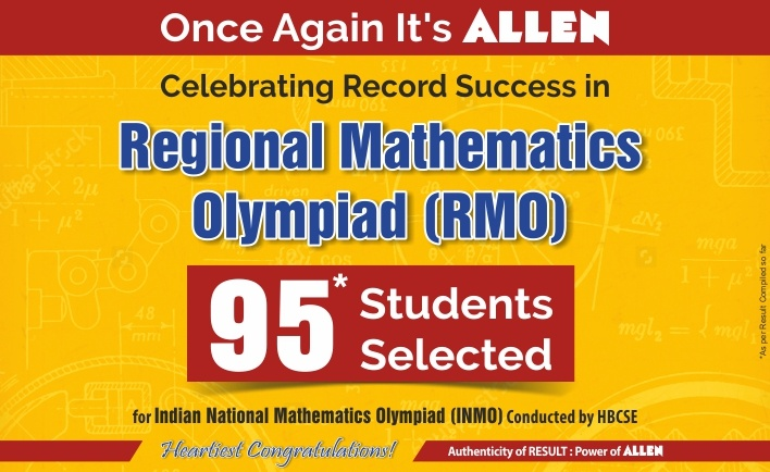 Regional mathematics olympiad result by ALLEN