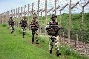 BSF stand guard at border