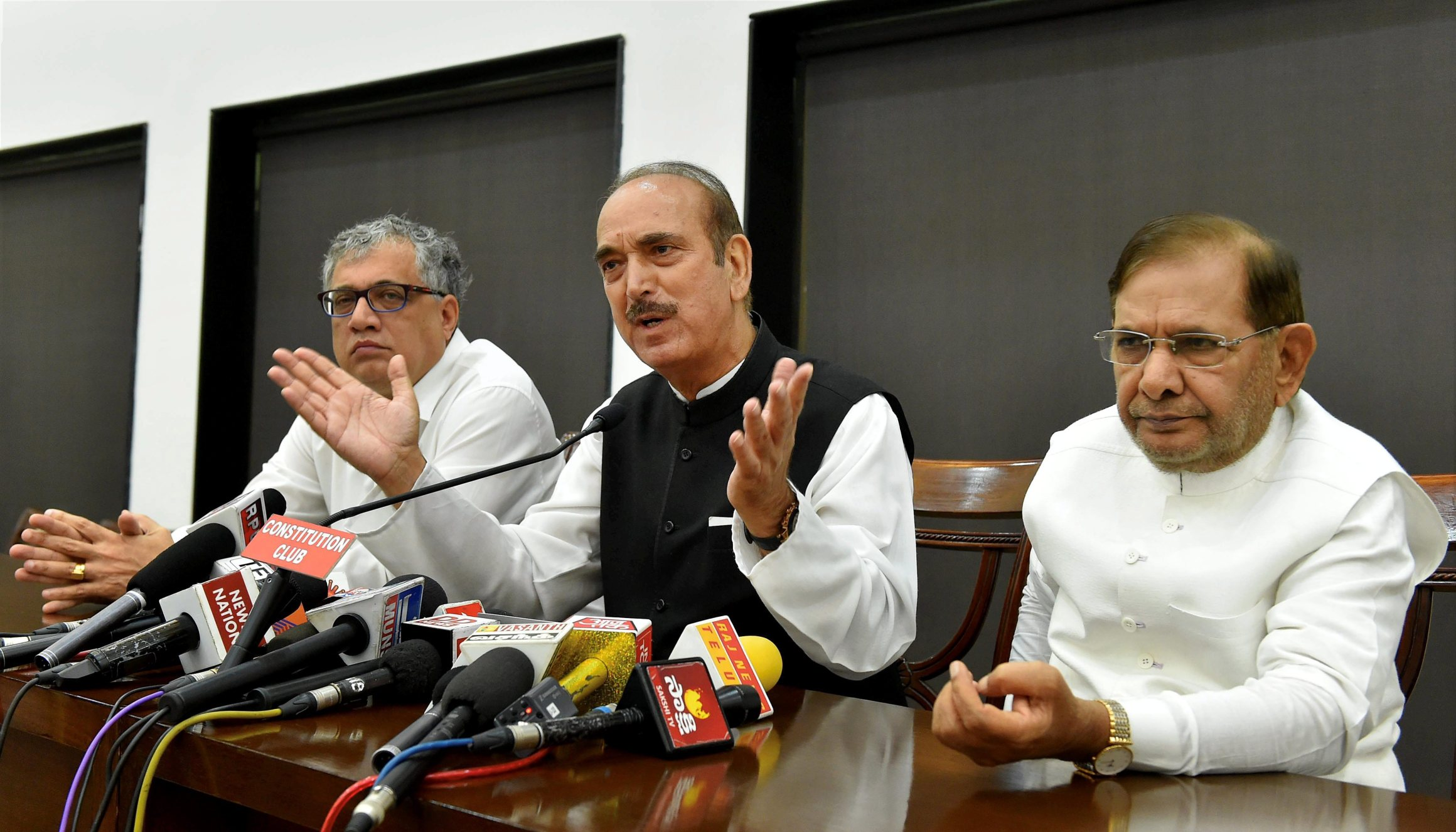 Opposition parties leaders address press
