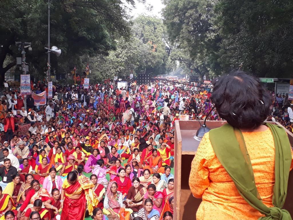 BMS-Delhi-Protest