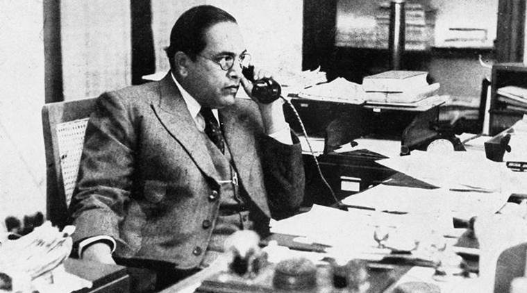 Shri B.R. Ambedkar in his office.