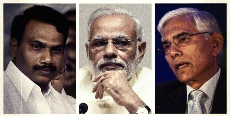 A.-Raja, Narendra Modi, Gopal Rai : PTI