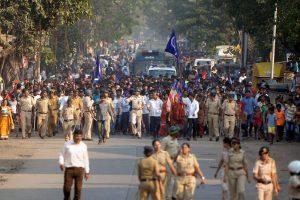 جنوری مہینے میں مہاراشٹر کے بھیما کورےگاؤں میں ہوئے تشدد کے خلاف ممبئی میں دلت کمیونٹی کا احتجاجی مظاہرہ (فوٹو : پی ٹی آئی)