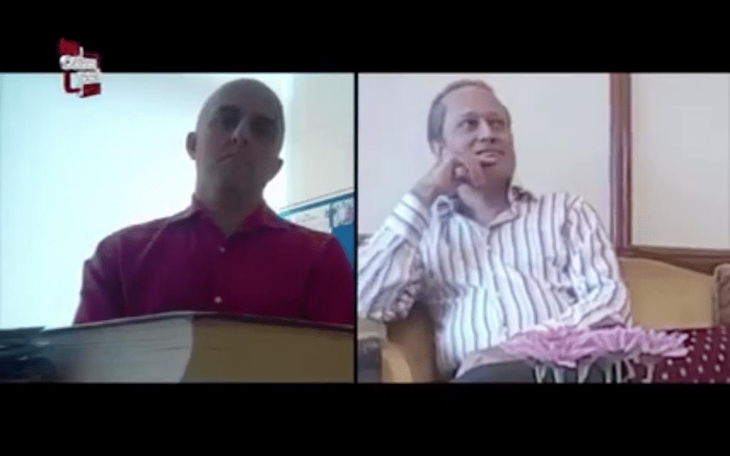 سنجیو شاہ اور ٹائمس گروپ کے ایم ڈی ونیت جین (دائیں)اسکرینگریب : کوبراپوسٹ