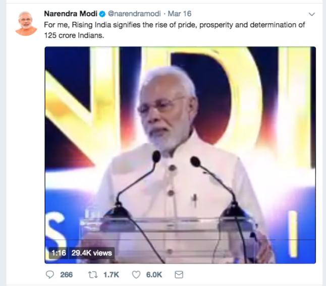 Modi-Tweet-India-Rising