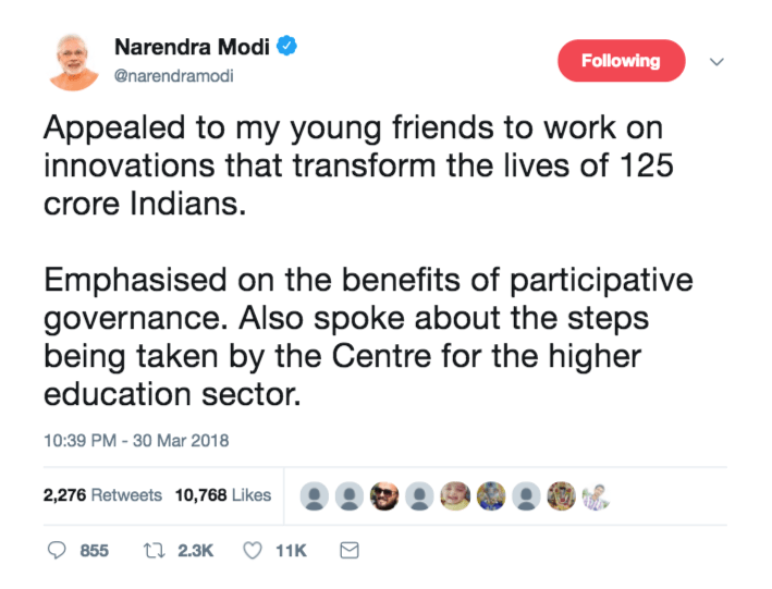 Modi-Tweet-Apeal-to-Youth