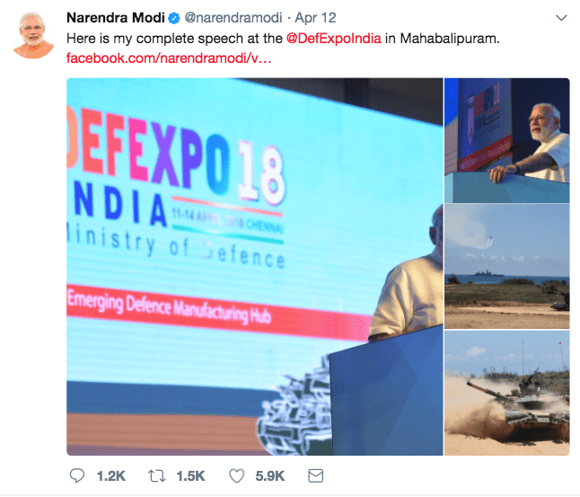 Modi-Tweet-Defence-Expo