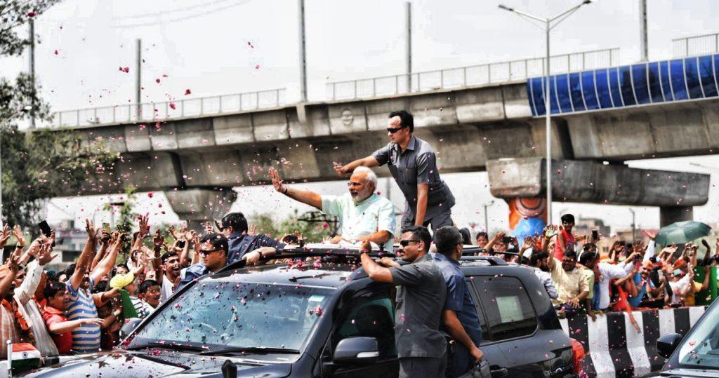 دہلی میرٹھ ایکسپریس وے کا افتتاح کرتے وزیر اعظم مودی (فوٹو بشکریہ : نریندر مودی / ٹوئٹر)