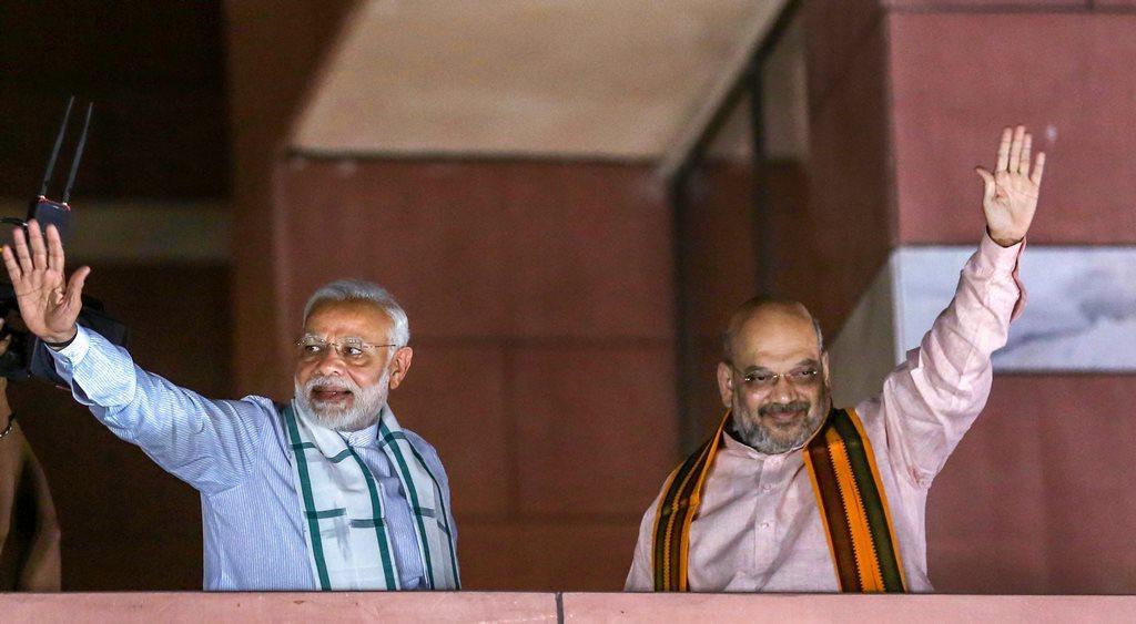 وزیر اعظم نریندر مودی اور بی جے پی صدر امت شاہ (فوٹو : پی ٹی آئی)