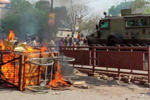 بہار کے اورنگ آباد میں رام نومی کے بعد ہوئے تشدد (فوٹو : پی ٹی آئی)