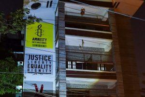 بنگلور واقع ایمنسٹی انٹرنیشنل انڈیا کا دفتر،فوٹو:پی ٹی آئی