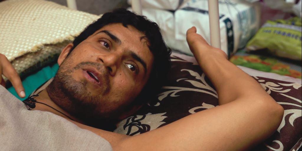 فرضی انکاؤنٹر میں زخمی جم ٹرینر ،فوٹو: دی قوئنٹ
