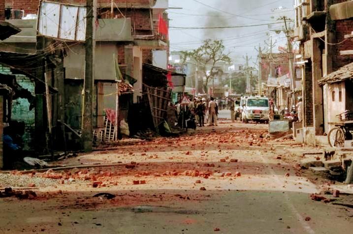 فساد کے بعد کا ایک منظر ،فوٹو،سی پی آئی ایم ایل ،لبریشن ،بہار،فیس بک پیج