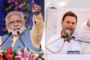 وزیر اعظم نریندر مودی اور کانگریس صدر راہل گاندھی (فوٹو : پی ٹی آئی)