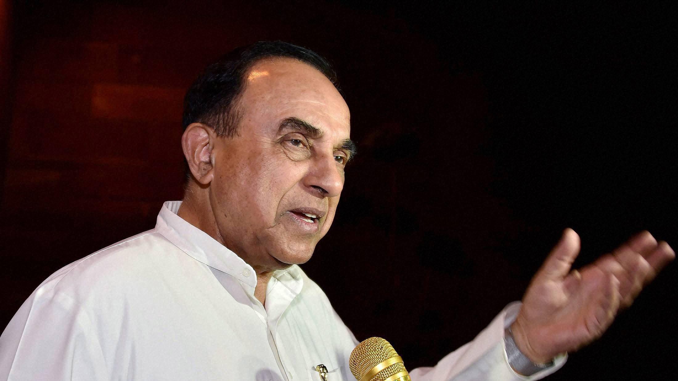 بی جے پی رہنما سبرامنیم سوامی (فوٹو : پی ٹی آئی)