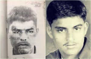 (بائیں) واحد چشم دید کی گواہی کی بنیاد پر پولیس کے ذریعے جاری کیا گیا شوٹر کا اسکیچ، دائیں-اعظم خان کے ذریعے پانڈیا کا شوٹر تلسی رام پرجاپتی۔ 2006 میں پرجاپتی کی ایک پولیس انکاؤنٹر میں موت ہو گئی/ (ذرائع: کورٹ ریکارڈس)