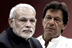 ہندوستانی وزیر اعظم نریندر مودی اور پاکستان کے وزیر اعظم عمران خان (السٹریشن: دی وائر)