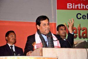 آسام کے وزیراعلیٰ سربانند سونووال (فوٹو : فیس بک@SarbanandaSonowal)