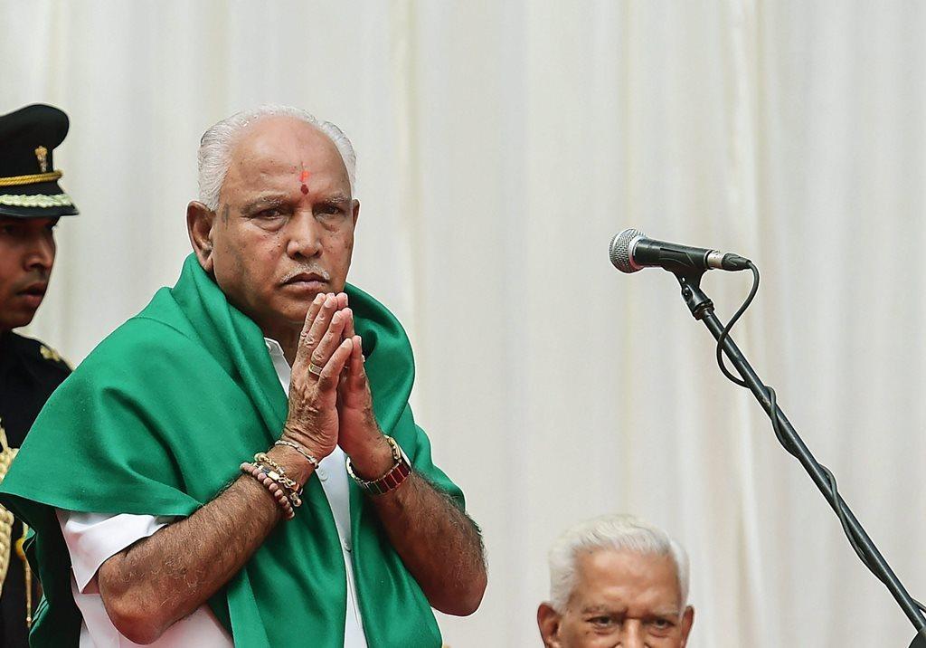 کرناٹک بی جے پی صدر بی ایس یدورپا (فائل فوٹو : پی ٹی آئی)