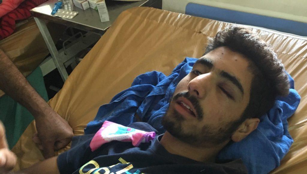 مہاراجہ ہری سنگھ ہاسپٹل میں زیر علاج ایک دیگر زخمی نوجوان نے بات کرنے سے انکار کر دیا۔ (فوٹو :سدھارتھ وردراجن / دی وائر)