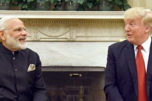 امریکی صدر ڈونالڈ ٹرمپ کے ساتھ ہندوستانی وزیر اعظم نریندر مودی (فائل فوٹو : پی آئی بی)