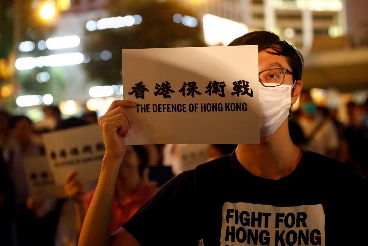 ہانگ کانگ میں بل کے خلاف مظاہرہ(فوٹو : رائٹرس)
