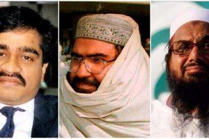 داؤد ابراہیم، مسعود اظہر اور حافظ سعید(فائل فوٹو )