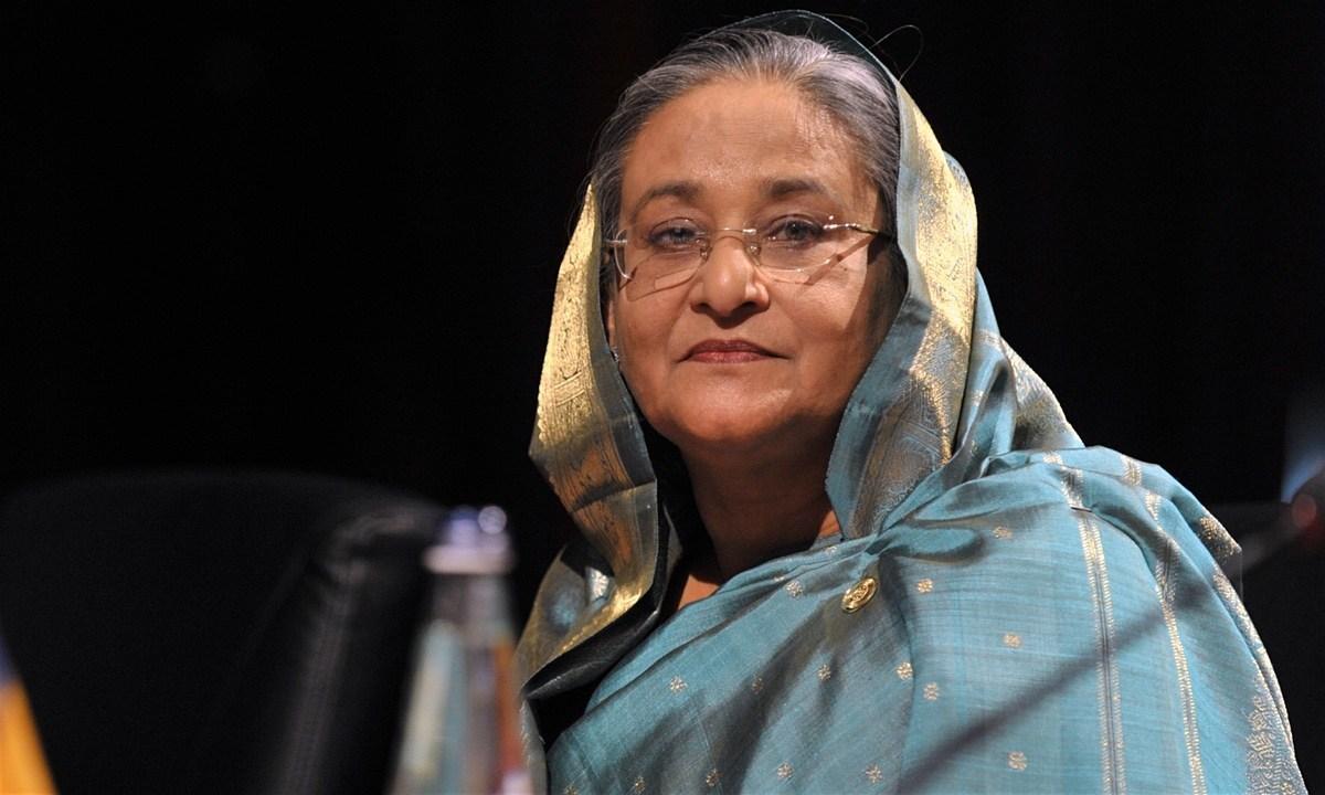 بنگلہ دیش کی وزیر اعظم شیخ حسینہ(فوٹو : رائٹرس)