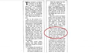 ممبئی یونین آف جرنلسٹ کی طرف سے تشکیل شدہ فیکٹ فائنڈنگ ٹیم کی رپورٹ جس میں بتایا گیا ہے کہ روپ کنور اپنے شوہر کے ساتھ تقریباً 20 دن ہی رہی تھیں۔