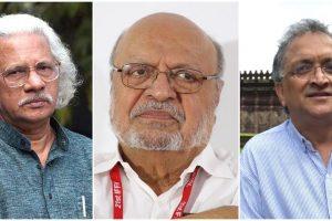 فلمساز اڈور گوپالکرشنن، شیام بینیگل اور مؤرخ رام چندر گہا۔ (فوٹوبہ شکریہ : فیس بک/ وکیپیڈیا)