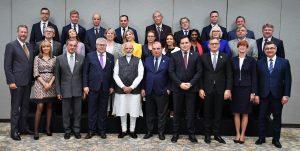 نئی دہلی میں گزشتہ سوموار کو یورپی یونین کے وفد نے وزیر اعظم نریندر مودی سے ملاقات کی(فوٹو بہ شکریہ : پی آئی بی)