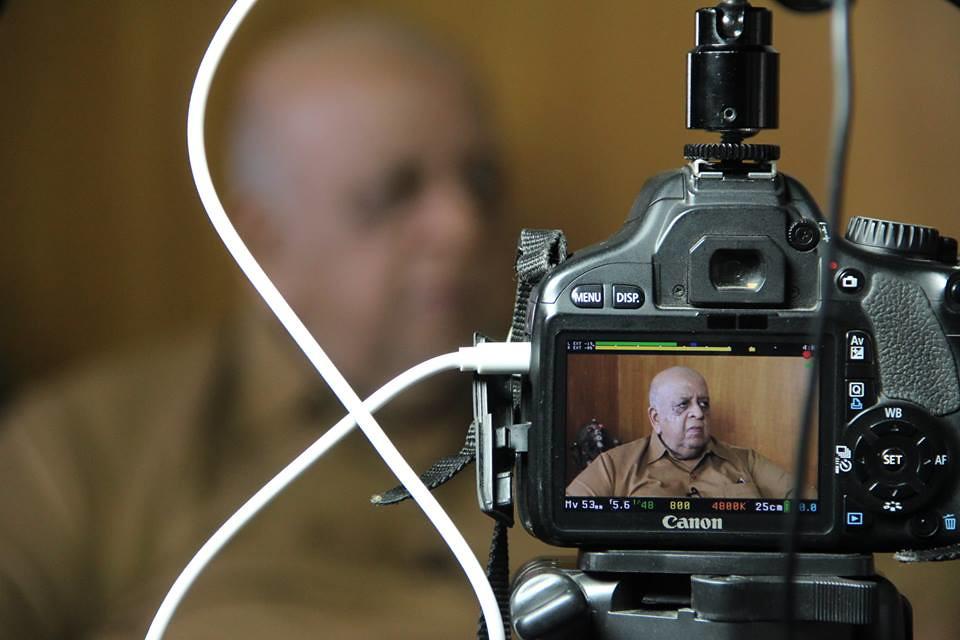 T.N. Seshan during an interview. Photo: Kiruba Shankar/Flickr, CC BY 2.0